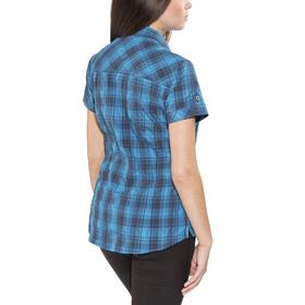 Bergans Leknes SS Shirt Women Navy/Light Sea Blue Charcoal